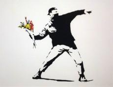 Banksy Flower Chucker