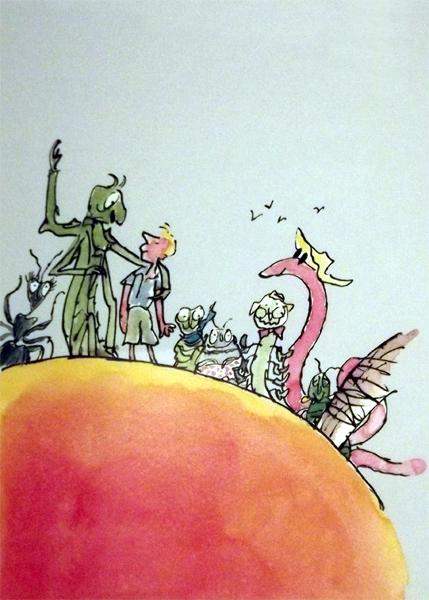 Roald Dahl's James & the giant Peach - Irish Paintings